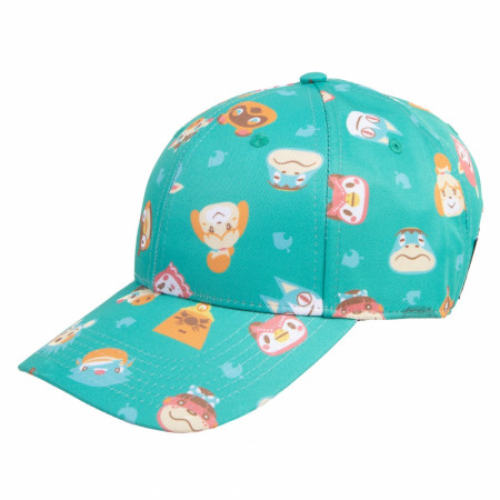 Animal Crossing All Over Print Adjustable Strapback Hat