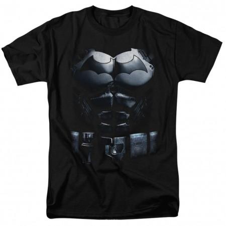 Batman Arkham Uniform Costume Men's Black T-Shirt