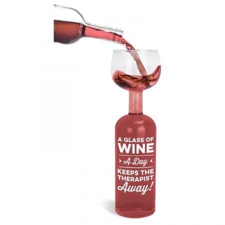 Glass A Day Wine Glass Wine Bottle