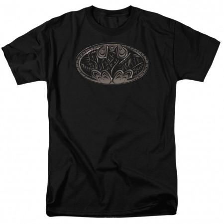 Batman Bio Mech Logo Men's Black T-Shirt