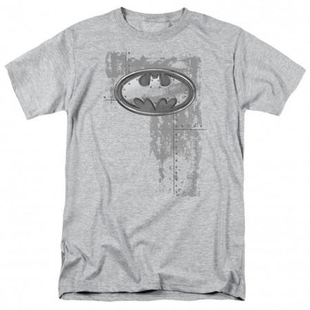 Batman Steel Logo Men's Grey T-Shirt
