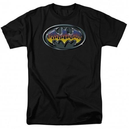 Batman Hot Rod Logo Men's Black T-Shirt