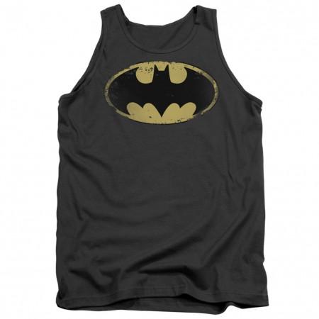 Batman Distressed Logo Grey Tank Top