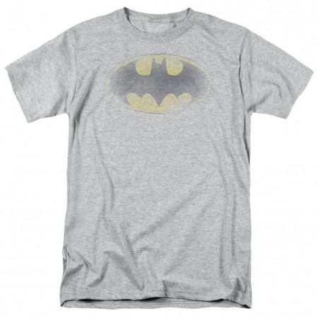 Batman Faded Logo Men's Grey T-Shirt