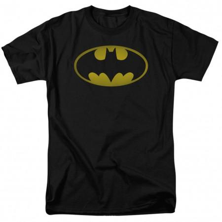 Batman Washed Logo Men's Black T-Shirt