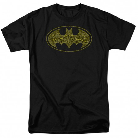 Batman Typeface Logo Men's Black T-Shirt