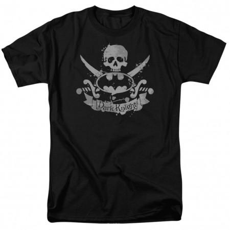 Batman Crossed Swords Logo Men's Black T-Shirt