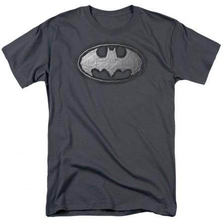 Batman Duct Tape Logo Men's Grey T-Shirt