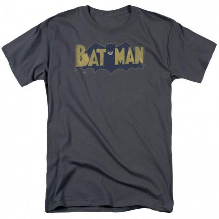 Batman Vintage Splatter Logo Men's Grey T-Shirt