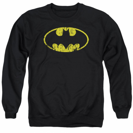 Batman Distressed Logo Crewneck Sweatshirt