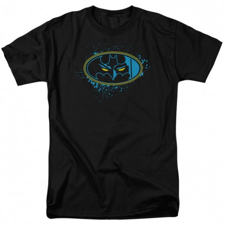 Batman Eyes In The Dark Logo Men's Black T-Shirt