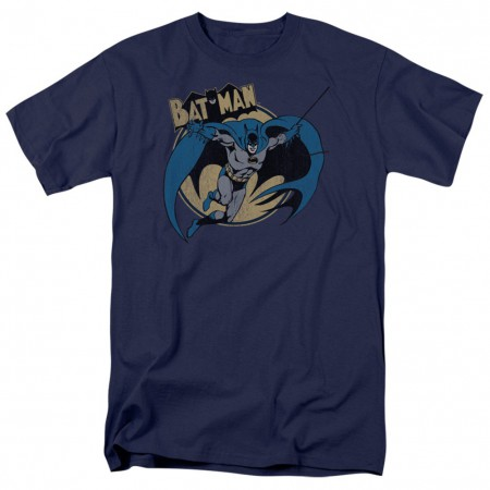 Batman Through The Night Men's Blue T-Shirt