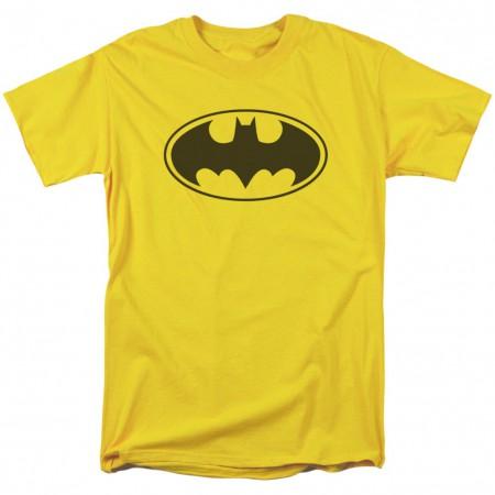 Batman Logo Yellow Men's T-Shirt