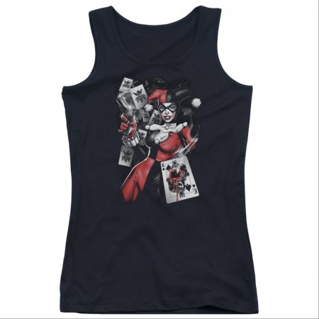 Batman Harley Quinn Smoking Gun Black Juniors Tank Top