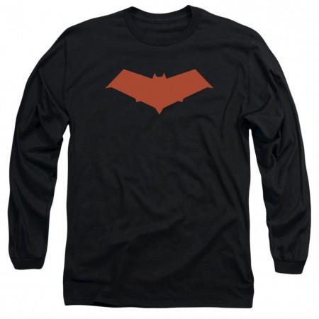Batman Red Hood Logo Long Sleeve Tshirt