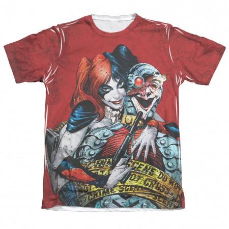 Batman Harley Quinn Crime Scene Sublimation T-Shirt