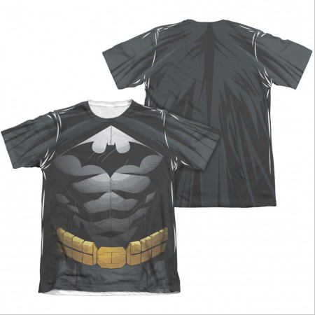 Batman Black Sublimation Costume Uniform Sublimation Two-Sided T-Shirt