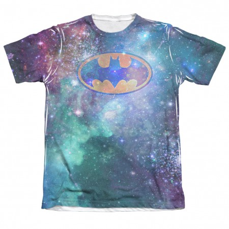 Batman Men's Galaxy Logo Sublimation T-Shirt