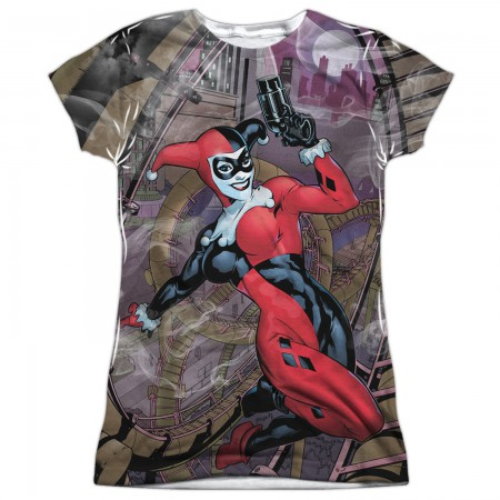 Harley Quinn Roller Coaster of Love Women's Sublimated Tshirt
