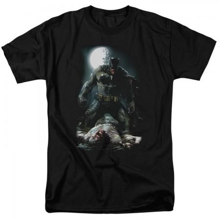 Batman Mudhole Men's Black T-Shirt