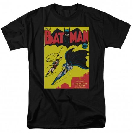 Batman First Issue Cover Men's Black T-Shirt