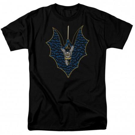 Batman Cape Logos Men's Black T-Shirt