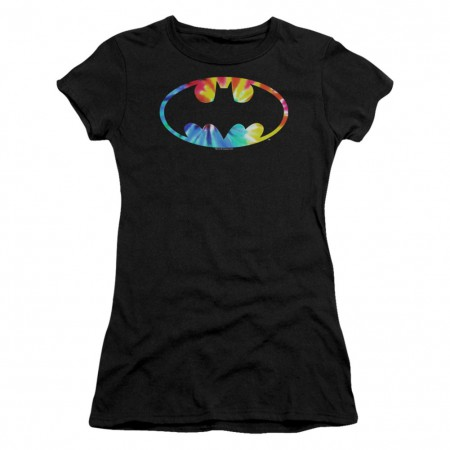 Batman Tie Dye Logo Women's Tshirt