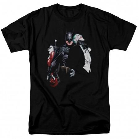 Batman Choking The Joker Men's Black T-Shirt