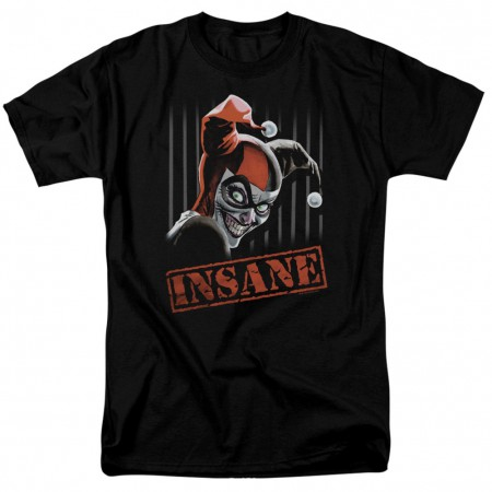 Harley Quinn Insane Men's Black T-Shirt