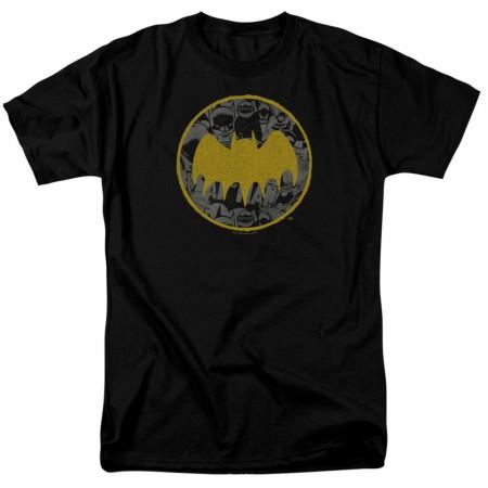 Batman Vintage Logo Collage Men's Black T-Shirt