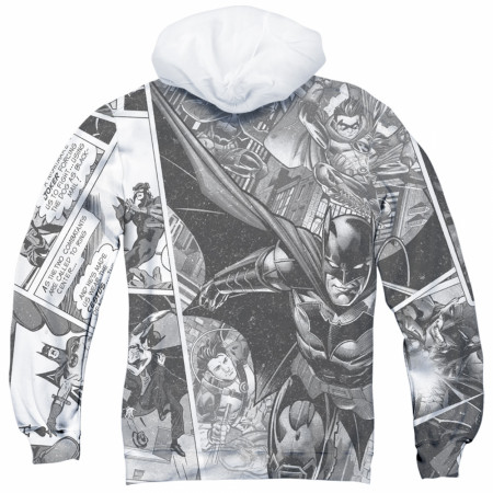 Batman 80th Collage All Over Print Hoodie