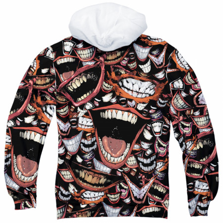 Joker Psycho Smiles All Over Men's Hoodie