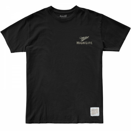 Miller High Life Girl In The Moon Front and Back Print T-Shirt