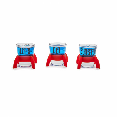 Blasted Shot Glass Three-Pack Set