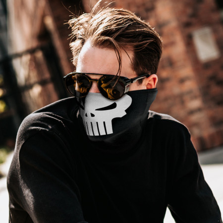 Punisher Face Mask Tubular Bandana