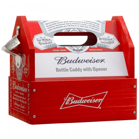 Budweiser Beer Caddy With Bottle Opener