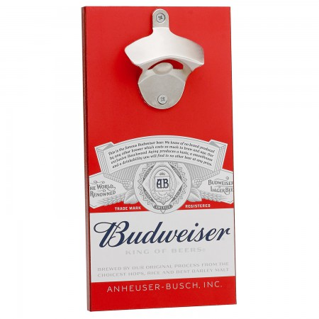 Budweiser Fridge Bottle Opener With Magnetic Cap Catcher