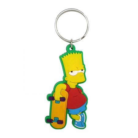The Simpsons Bart PVC Soft Touch Keychain