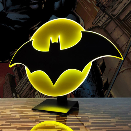 Batman Symbol Illuminated Table Lamp Or Mountable Wall Art With Dimmer