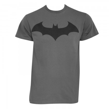 Batman Men's Grey Modern Logo T-Shirt