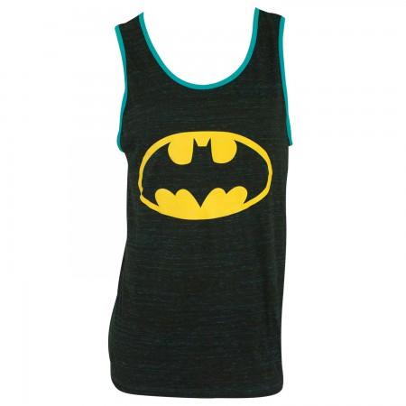 Batman Men's Blue Trim Tank Top