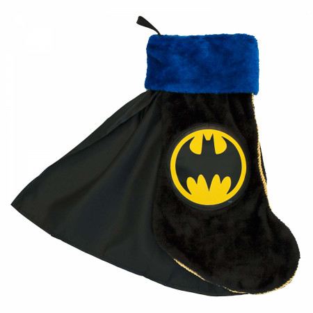 Batman Black Christmas Stocking With Cape