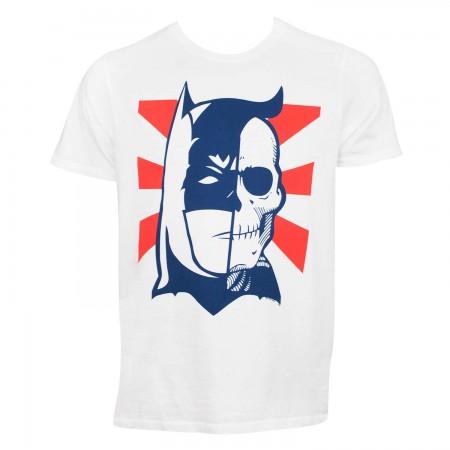 Batman Half Skull Face Tshirt