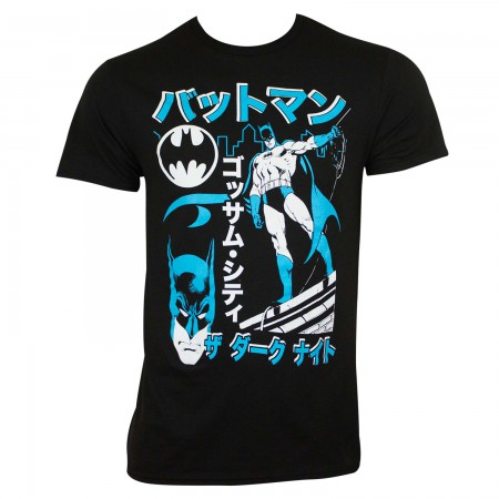Batman Men's Black Kanji T-Shirt