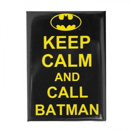 Batman Keep Calm Black Magnet