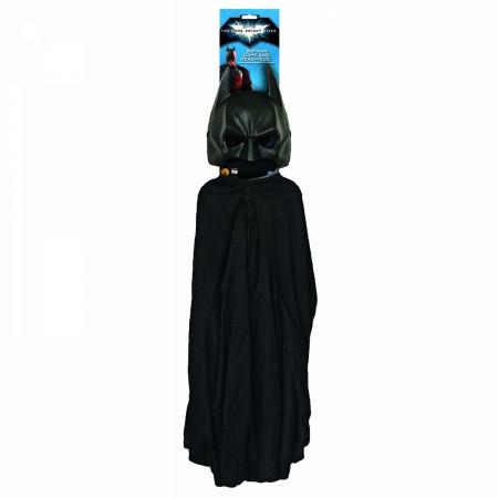 Batman Black Masked Costume Set With Cape