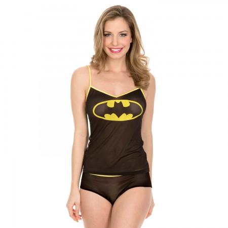 Batman Mesh Cami & Panty Sleep Set
