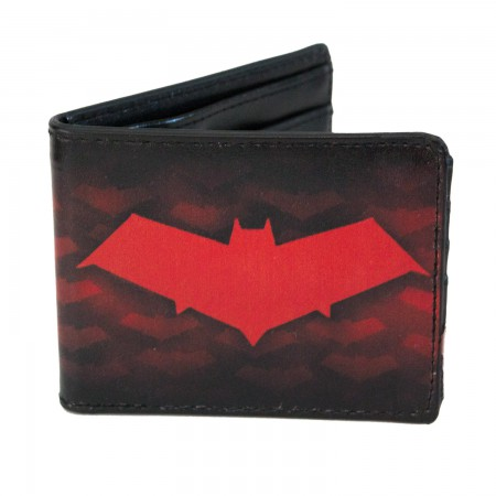 Batman Bi-Fold Red Logo Wallet
