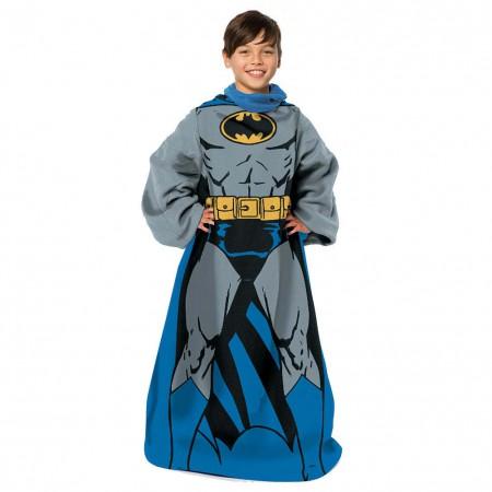Batman Youth Muscle Blanket Robe