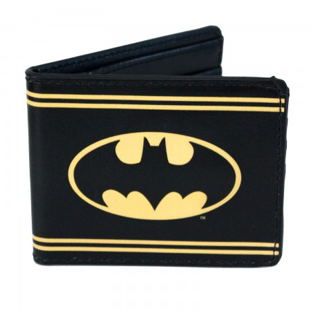Batman Bi-Fold Black Striped Wallet